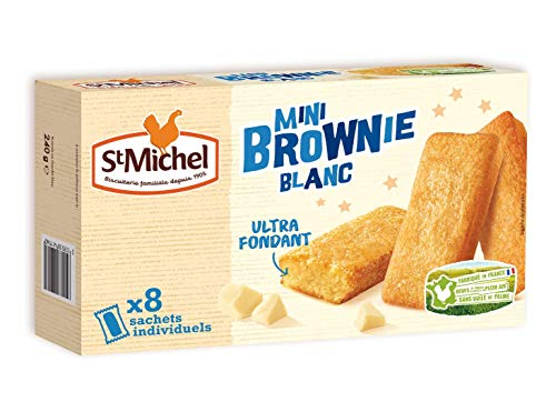 St Michel Cocotte brownies chocolat blanc individuel - Les 8 sachets individuels, 240g