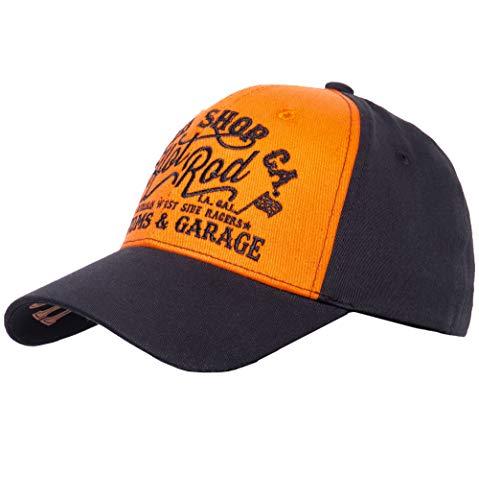 King Kerosin Casquette Hot Rod FlexfitKerosin (LXL (58 61 cm) Noir Orange)