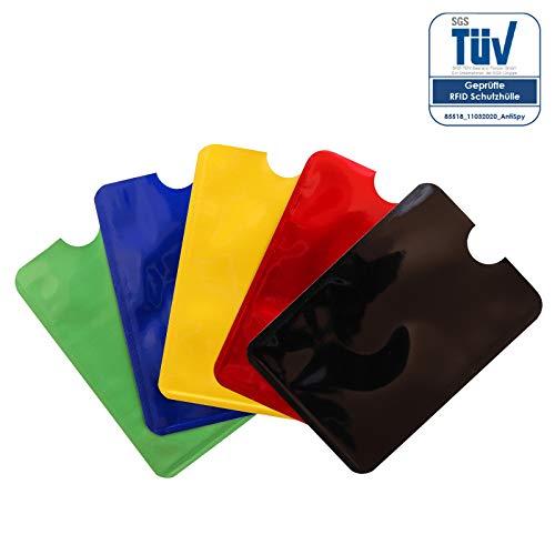 RFID Schutzhüllen NFC Blocker Kreditkarte, EC Karte Funk-Abschirmung - 5er Pack