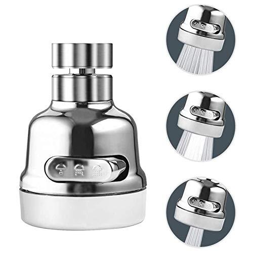Anaric-Tih - Grifo para grifo de cocina, aireador de grifo giratorio 360, accesorio de rociador de grifo evita salpicaduras de agua con 3 modos de ajuste, ahorra agua y fácil de instalar.