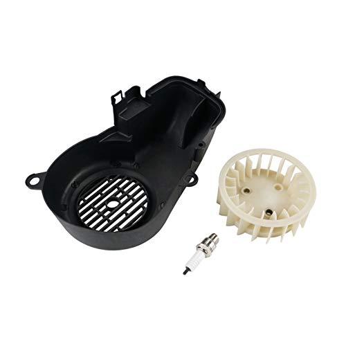 ZHANGMEI YMQ Store Motor de Aire Complete el Ventilador de refrigeración Ajuste para Polaris Predator Sportsman Scrambler 90 2-Stroke Fit para 2T Yamaha JOG90 90cc Motores (Color : Black)