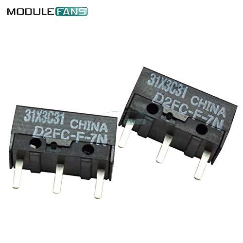20PCS Mikro-Schalter Mikroschalter Omron D2FC-F-7N für die Maustaste Fretting D2F-J Microswitch