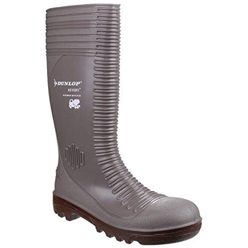 Dunlop Dunlop Herren-Sicherheits-Gummistiefel A242A31, Grau/Braun