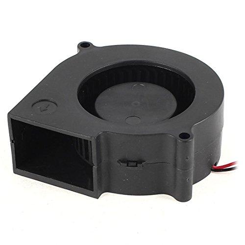 Gesh Ventilador sin escobillas para PC de 75 mm x 30 mm, 2 pines, 12 V.