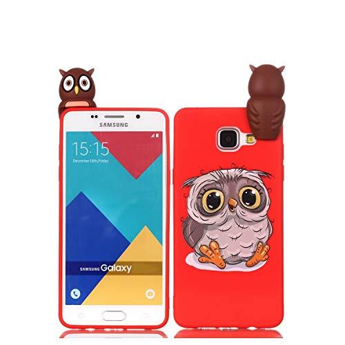 Funda animal adorable para Galaxy A3 (2016), diseño de Búho de silicona TPU suave y flexible, a prueba de golpes, Funda con un encantador diseño de Búho único para Samsung Galaxy A3 (2016) / A310