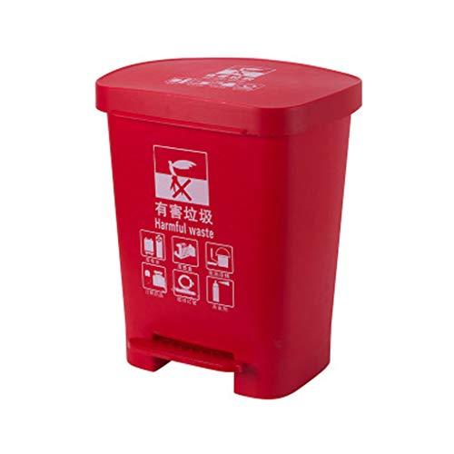 LLKK Botes de Basura de saneamiento,Botes de Basura de plástico para Exteriores,contenedores de Basura de plástico Cuadrados de clasificación de Basura,Conveniente,Ahorra Tiempo y Esfuerzo