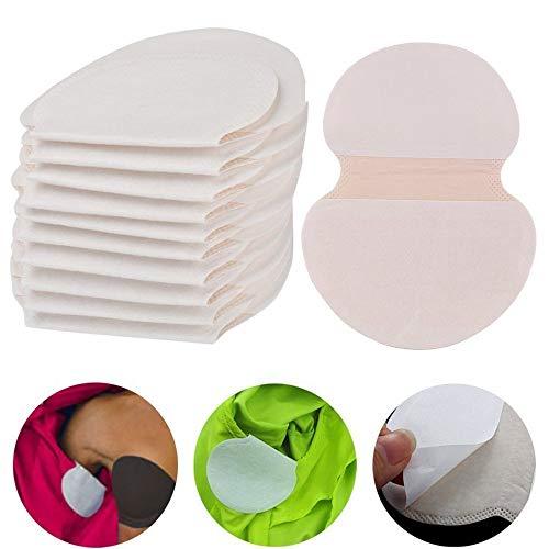 100 unidades de almohadillas para axilas, sudor de axilas, desechables, almohadillas pura, color piel, absorbentes, suaves, para sudoración del antebrazo, ajuste perfecto, absorción