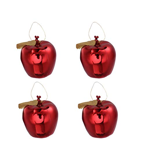 TINKSKY Christmas Tree Pendant 4cm Glitter Apple Decoration Ornaments for Festival Hanging Xmas Tree Decor Holiday Wedding Party Decor Christmas Birthday Gift for Friends 12pcs (Red)