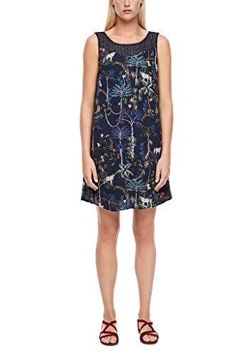 s.Oliver Damen 120.12.006.20.200.2039377 Lässiges Kleid, Dark Blue Floral AOP, 38