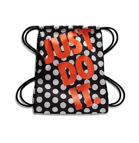 Nike Heritage Gymbag Gymsack Turnbeutel (one Size, Black/orange)