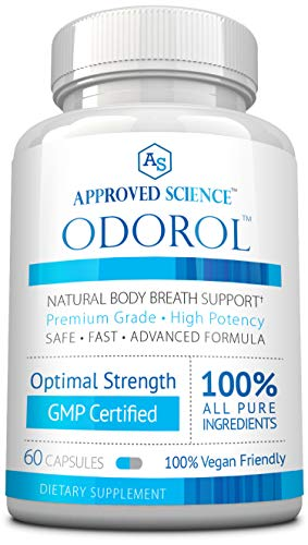 Odorol - Fast, Safe Way to Eliminate Bad Breath & Body Odor - 60 Capsules - 1 Bottle