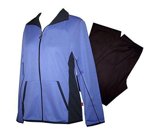 Schneider Sportswear Bella Damen Trainingsanzug, Hausanzug, Sport-Fitness, Cotton Tech (40, Aster/Granit)