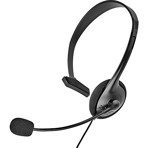 Renkforce Telefon-Headset 2.5 mm Klinke schnurgebunden, Mono On Ear Schwarz