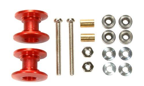 doppie rotelle alleggerite 13-12mm rosse MINI 4WD