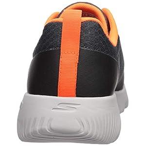 Skechers Men's GO Run FOCUS-55169 Sneaker, Charcoal/Orange, 12 M US