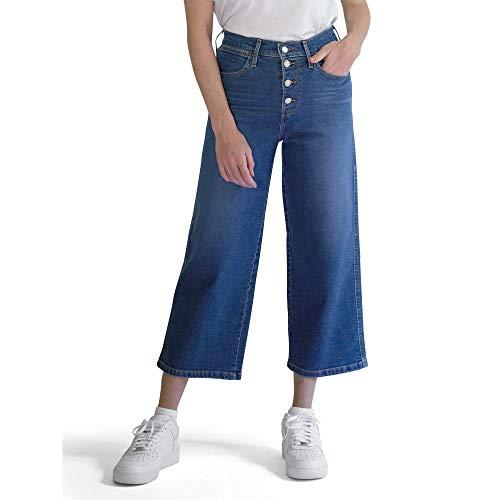 Levi's Women's Mile High Wide Leg Buttons Jeans, Sun Devil Heat, 31 (US 12) L