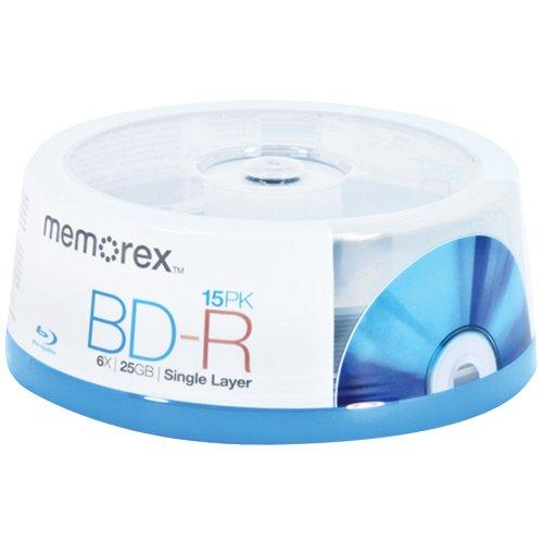 Memorex Blu-Ray BD-R 6x 25 GB Spindle, 15 Pack