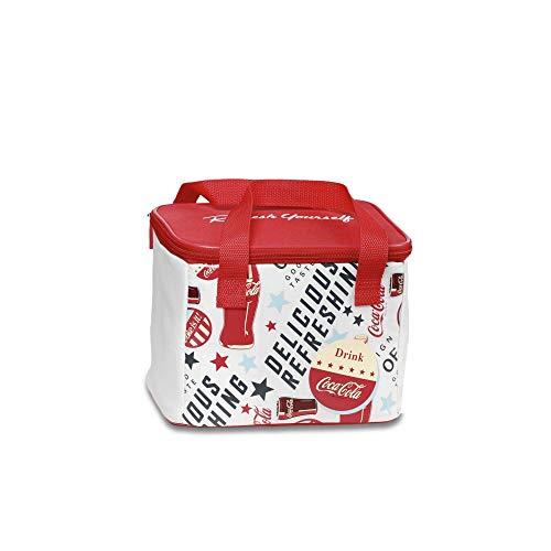 Coca-Cola Fresh 5 flexible Kühltasche, Kühlbox , 5 L, Coca-Cola Design für Picknick, Freizeit und Snacks