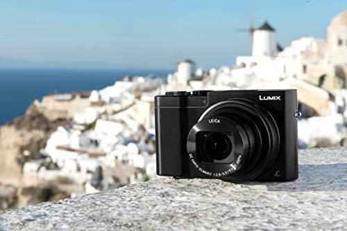Panasonic Lumix TZ100   Kompaktkamera Expert (großer Sensor Typ 1 Zoll 20 MP, Zoom Leica 10 x F2.8-5.9, Sucher, Touchscreen, Video 4 K, Stabilisierung), Schwarz - Französische Version