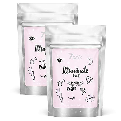 Kaffee-Peeling 2 Stk Organische Körperpflege strahlende Haut Natürliche Kaffeebohnen Anti-Cellulite Rosacea entfernt trockene Hautzellen 2x200g   7DAYS
