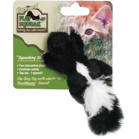 OurPets Play-N-Squeak Backyard Skunk Catnip Cat Toy