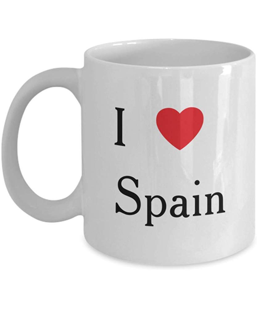 España Souvenir Taza de café Te amo Regalo Españoles País Aventura Viaje Presente: Amazon.es: Hogar