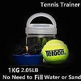 Portatile Tennis Trainer 1KG Peso Base in Ferro Pesante Strumento di Allenamento Tennis Strumento di Esercizio Tenis Ball Sport Self-Study Rebound Ball Basboard Sparring Device, Un set.