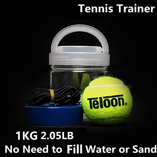 Entrenador de tenis portátil de 1kg de peso pesado, base de hierro, herramienta de entrenamiento de tenis, pelota de tenis, autoaprendizaje, dispositivo de entrenamiento, Un juego