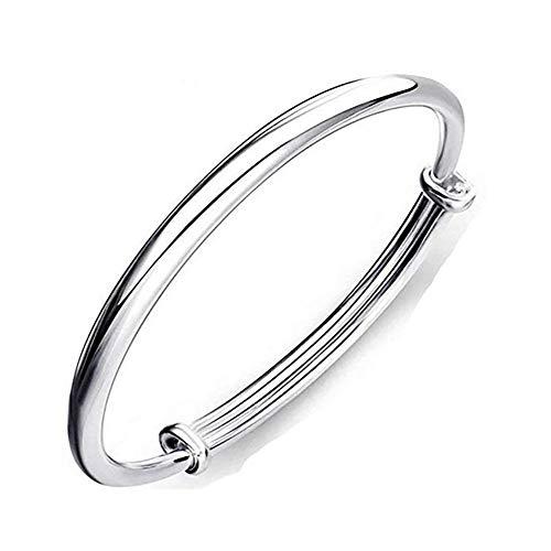 1 pulsera de plata de ley 925 maciza para mujer