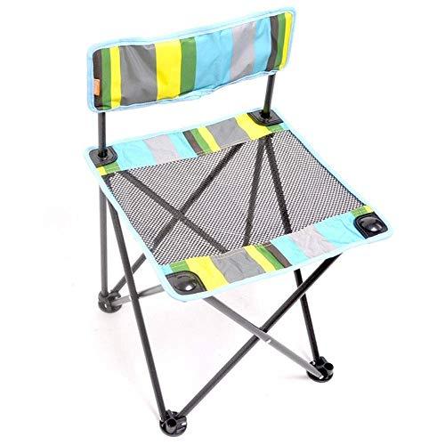 YLCJ Kleiner Klappstuhl im Freien Tragbares Netzwerk Studenten Malen Zeichnen Stuhl Oxford Freizeit Tuch JINRONG Angeln Stuhl (Farbe: Grau)