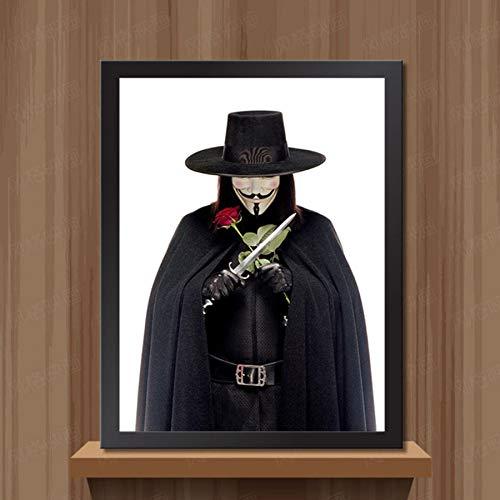 MXIBUN Cartel e Impresiones Vintage V para Vendetta Movie Cuadro de Arte de Pared Lienzo de Pintura Regalo sin Marco 50 * 70 cm