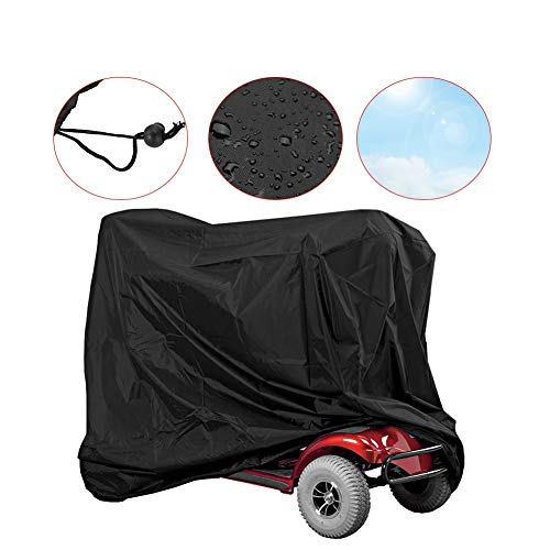 Elektromobil-Abdeckplane, wasserdichte Rollerabdeckung, Motorradabdeckung Rollstuhl Schutzbezug, aus 190T Oxford, Anti Dust Sun Regen Wind Proof UV Schutz (140 x 66 x 91CM)
