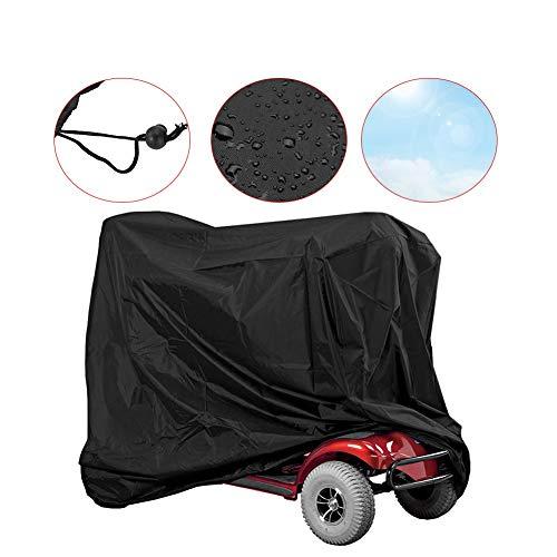 Funda protectora impermeable para scooter, silla de ruedas, de Oxford 190T, protección contra el polvo, la lluvia, el viento y los rayos UV (170 x 61 x 117 cm)