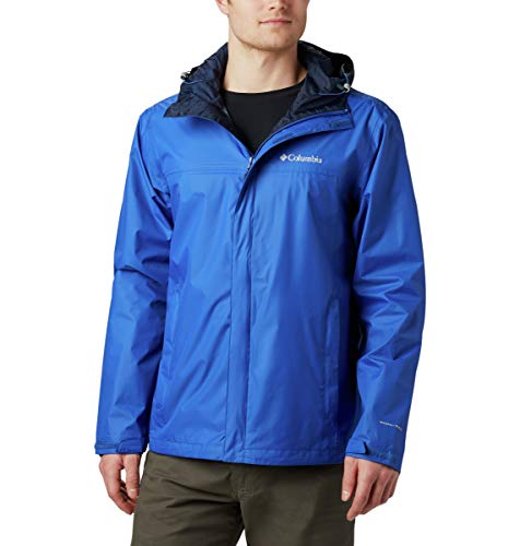 Columbia Watertight II Front-Zip Hooded Rain Jacket Blouson de Pluie, Bleu, XXL Homme