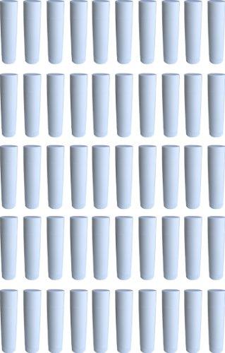 Frühes Forschen 50 Lippenstift-Hülsen weiß, leer, zum Selbstbefüllen - Made IN Germany