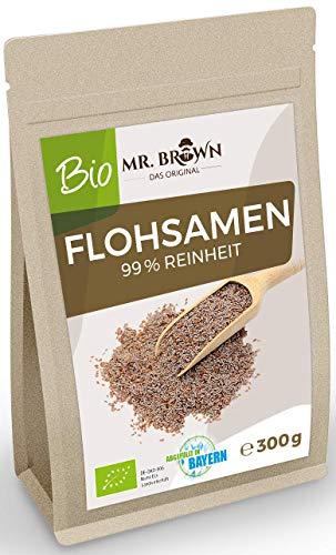 Mr. Brown BIO Flohsamen aus Indien 300 g   99 % Reinheit   aus kontrolliert biologischem Anbau   300...
