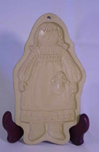 Brown Bag Hill Design Cookie Mold. 1988 Features a doll design