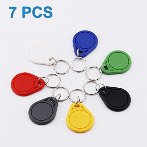 TimesKey NFC Tags NXP NTAG215 NFC Kefob,Gleicher Kompatibel Mit Nintendo Amiibo,504 Bytes Speicher / 7 Stück/Bunte Farbe