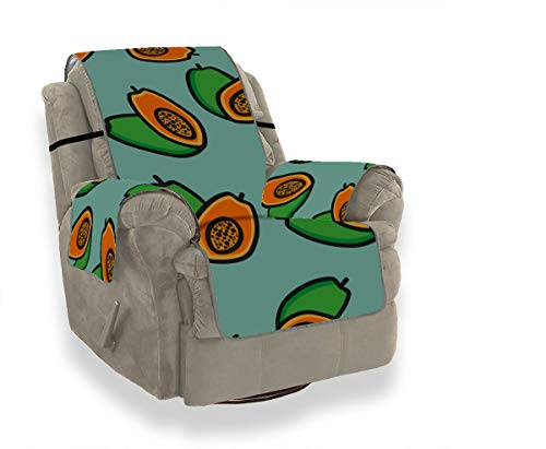 JIUCHUAN Fashion Cute Create Fruit Papaya Kinderstuhl Schonbezug Schonbezüge für Ohrensessel Ausgefallene Sofakissen 21