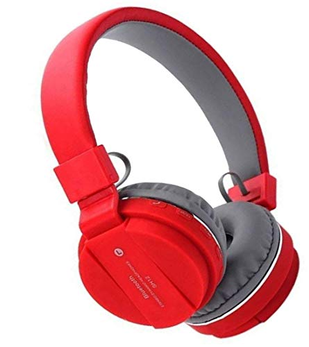 CHG SH12 Stretchable Foldable Wireless/Bluetooth Headphone with Fm Inbuilt Microphone and SD Card Slot Z3