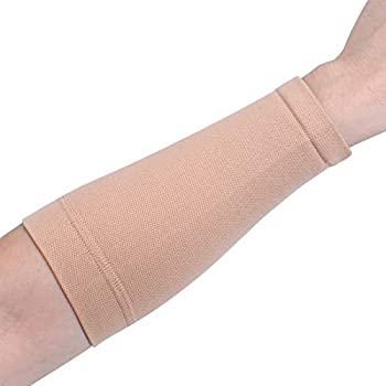 1Pair Black/Skin Color Forearm Tattoo Cover Up Bands Compression Sleeves  2Pcs Skin L