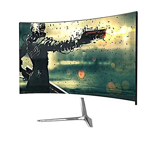 NAOTA Monitor LCD Curvo de 24 Pulgadas, Juego de Escritorio para computadora, Filtro IPS, resolución de luz Azul 1920x1080, Adecuado para Oficina/Juego/Monitor / PS4