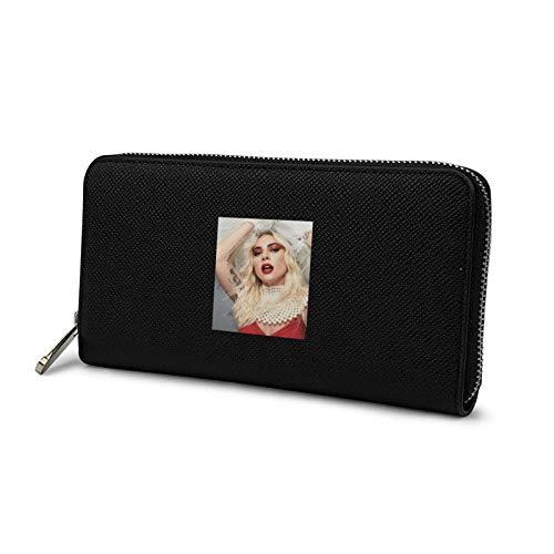 メンズ 長財布 ファスナー財布 ウォレット Lady Gaga レディー・ガガ 薄い ブラック 小銭入れ 人気 ラウンドファスナー レザー 大容量 カード ビジネ