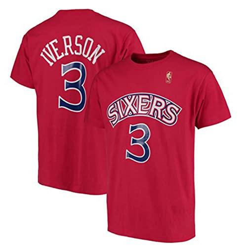 FZLQ Sports Basketball Jersey, 76ers # 3 Iverson Transpirable Algo Sportswear Camiseta...