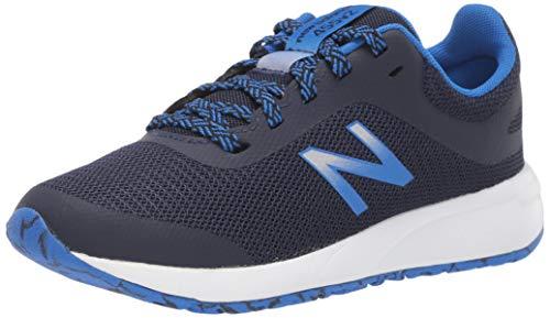 New Balance Kid's 455 V2 Lace-Up Running Shoe, Navy/Vivid Cobalt, 5 M US Big Kid