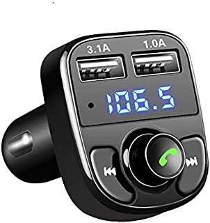 Bluetooth Fm Transmitter for Car Onever FM Transmitter Aux Modulator Bluetooth Handsfree Car Kit Car Audio MP3 Player with 3.1A Quick Charge Dual USB Car Charger