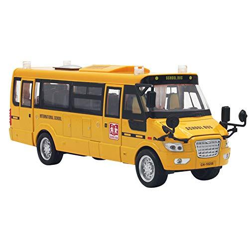 Amarillo Alloy Diecast School Bus vehículos Toy Car con Puertas y Luces...