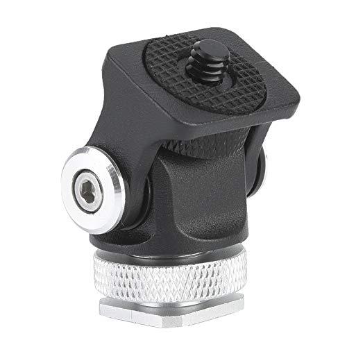 Suporte para mini câmera, suporte para sapata anti-ferrugem de 3 kg, liga de alumínio para filmadoras Ferramenta de suporte para câmeras Acessório fotográfico para câmeras