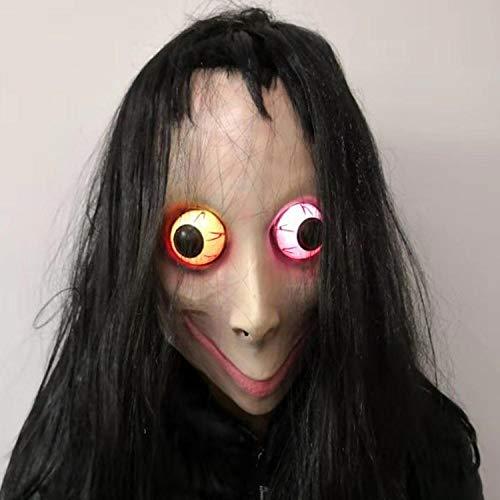 lxylllzs Kostüm Maske - ideal für Halloween,Halloween-Horrormaske, Zombie gruseliges Gesicht Kopfbedeckung-9,Erwachsene Halloween Party Fasching,