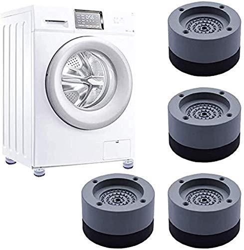 DBXOKK Anti-slip And Noise-reducing Washing Machine Feet 4Pcs (Gris)